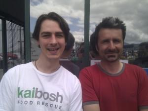 George Langlands and Fraser Ebbett at Harbourside Market